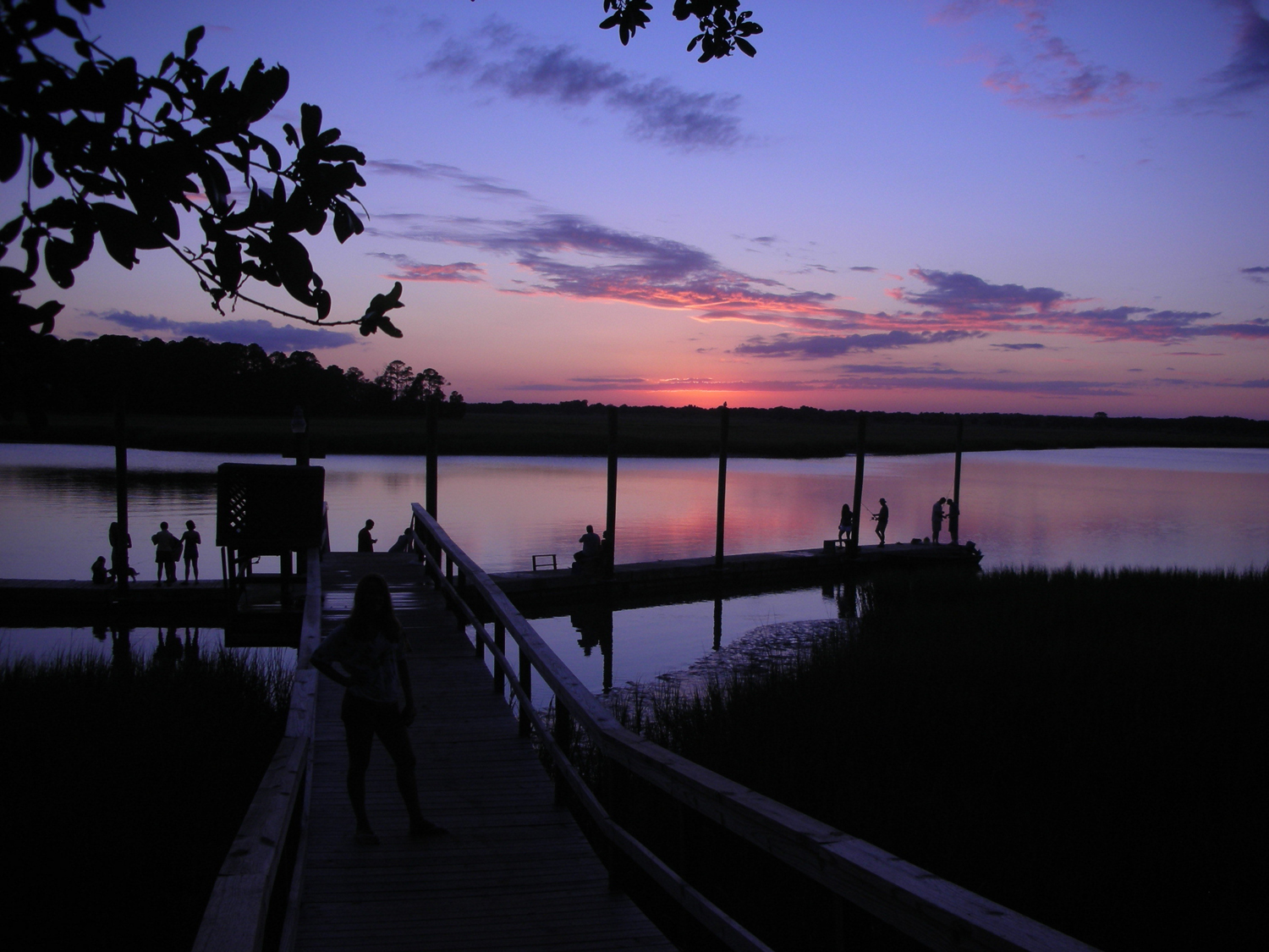Sunset on the river on Kiawah Island