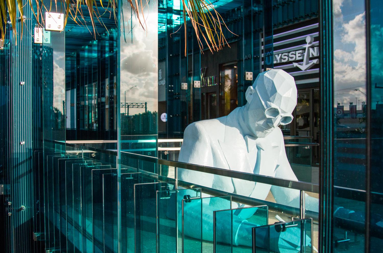 Miami Design District art exhibit of man