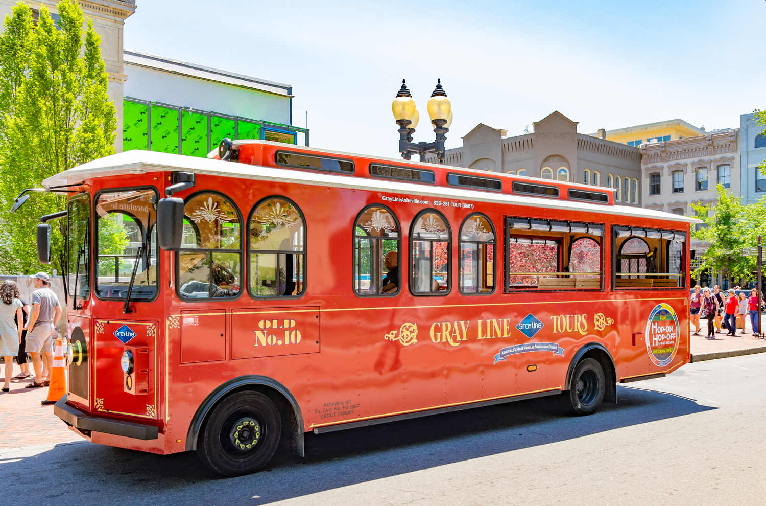 trolley tours in Asheville, NC
