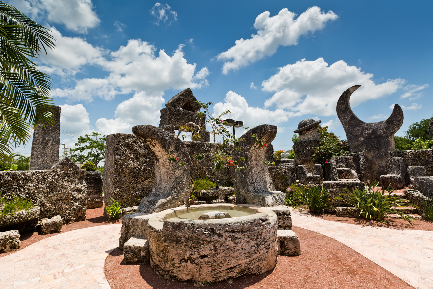 Coral Castle- A stone structure created by an eccentric Latvian emigrant in the United States Edward Leedskalnin