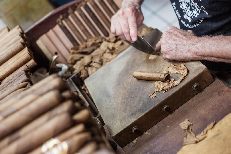 Making cigars in Little Havana near Miami, FL